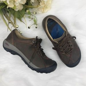 KEEN 7 Presido Brown Leather Lace Up Shoes